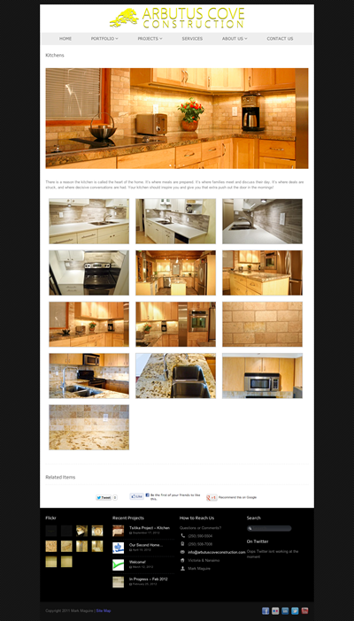 Portfolio of Kitchen Renovation Projects by Arbutus Cove Construction.