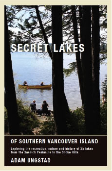 Front cover of the Secret Lakes of Southern Vancouver Island Guidebook.