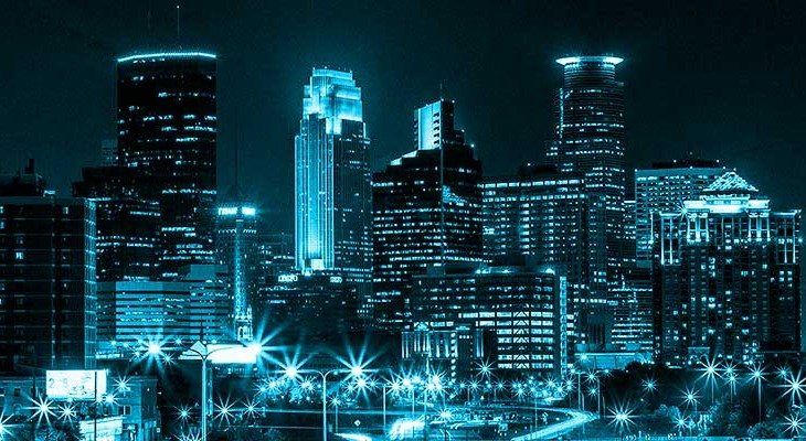 Minneapolis at Night as interpreted by the IA Summit.