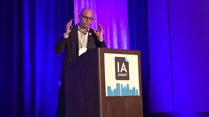 Adam Ungstad speaking at IA Summit 2015.